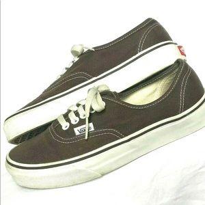 Brown Canvas VANS Skate Shoe Sneakers Sz 8